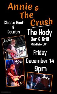 Annie & the Crush Dec 14 at The Hody Bar & Grill! @ Hody Bar and Grill in Middleton, WI | Middleton | WI | United States