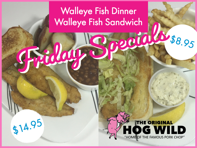 Friday, August 10, 2018 Specials