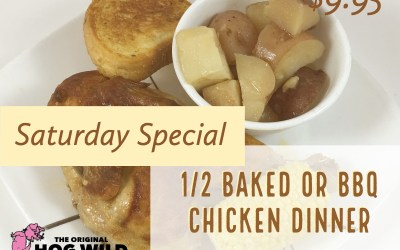 Saturday, September 1, 2018 Specials