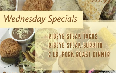 Wednesday, September 5, 2018 Daily Specials