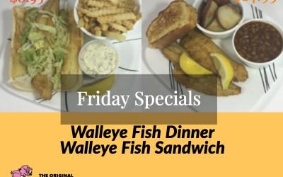 Friday, October 5, 2018 Daily Specials