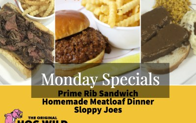 Monday, October 1, 2018 Daily Specials