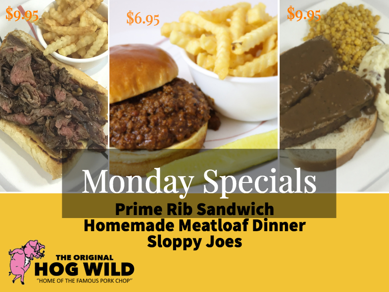 Monday, October 8, 2018 Daily Specials