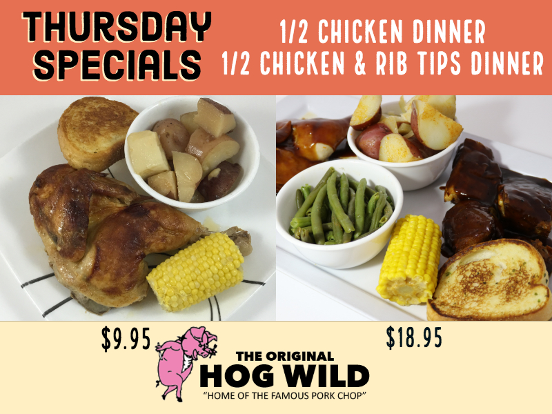 Thursday, November 1, 2018 Daily Specials