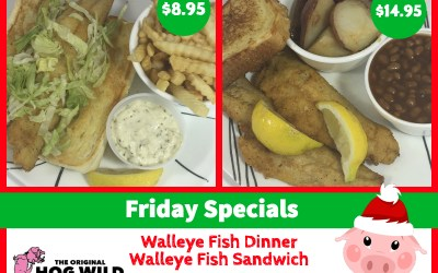 Friday, December 21, 2018 Daily Specials