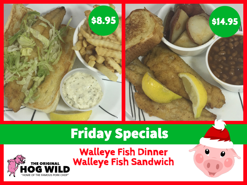 Friday, December 28, 2018 Daily Specials
