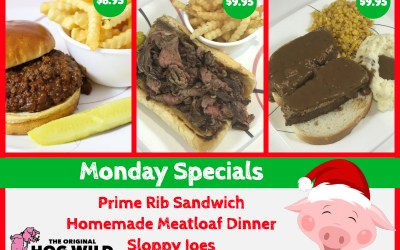 Monday, December 3, 2018 Daily Specials