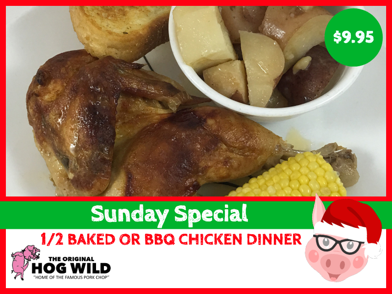 Sunday, December 30, 2018 Daily Special