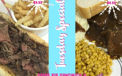 Tuesday, January 1, 2019 Daily Specials