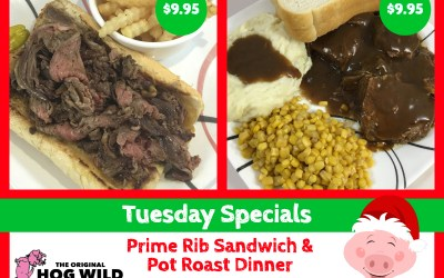 Tuesday, December 11, 2018 Daily Specials