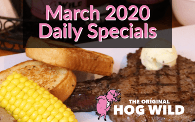 March 2020 Daily Specials