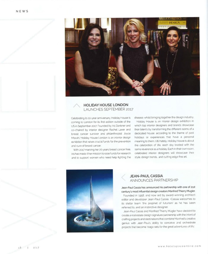 Holiday Houdse London in Space magazine