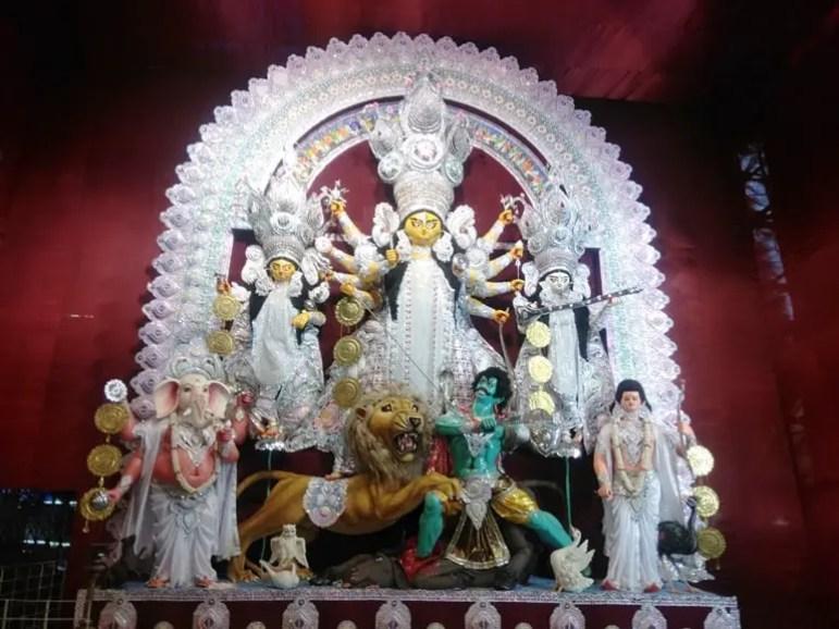 বাগবাজার সার্বজনীন দুর্গোৎসব - দুর্গা ঠাকুরের ছবি