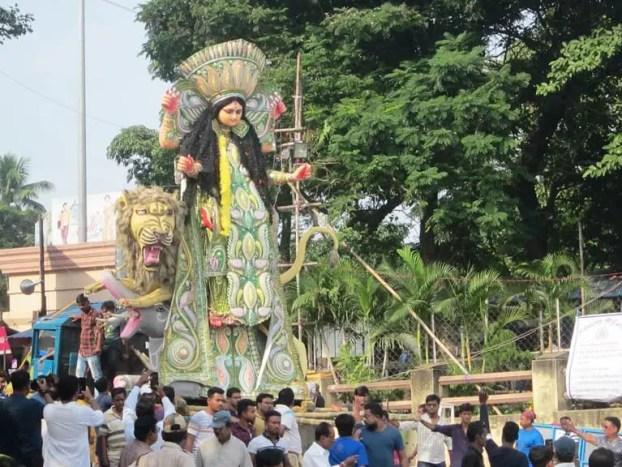 Jagadhatri idol chandannagar