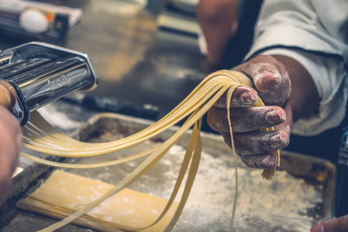 Hands-on experience making pasta