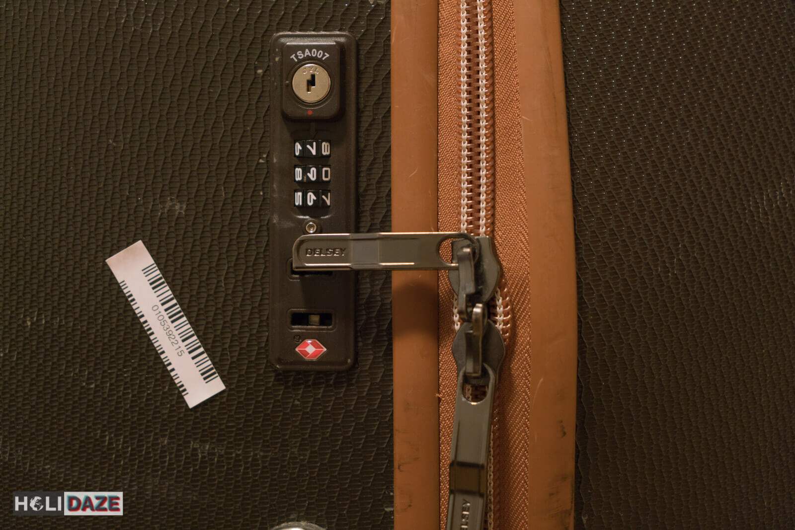 Delsey suitcases are super safe -- as long as you remember to lock it