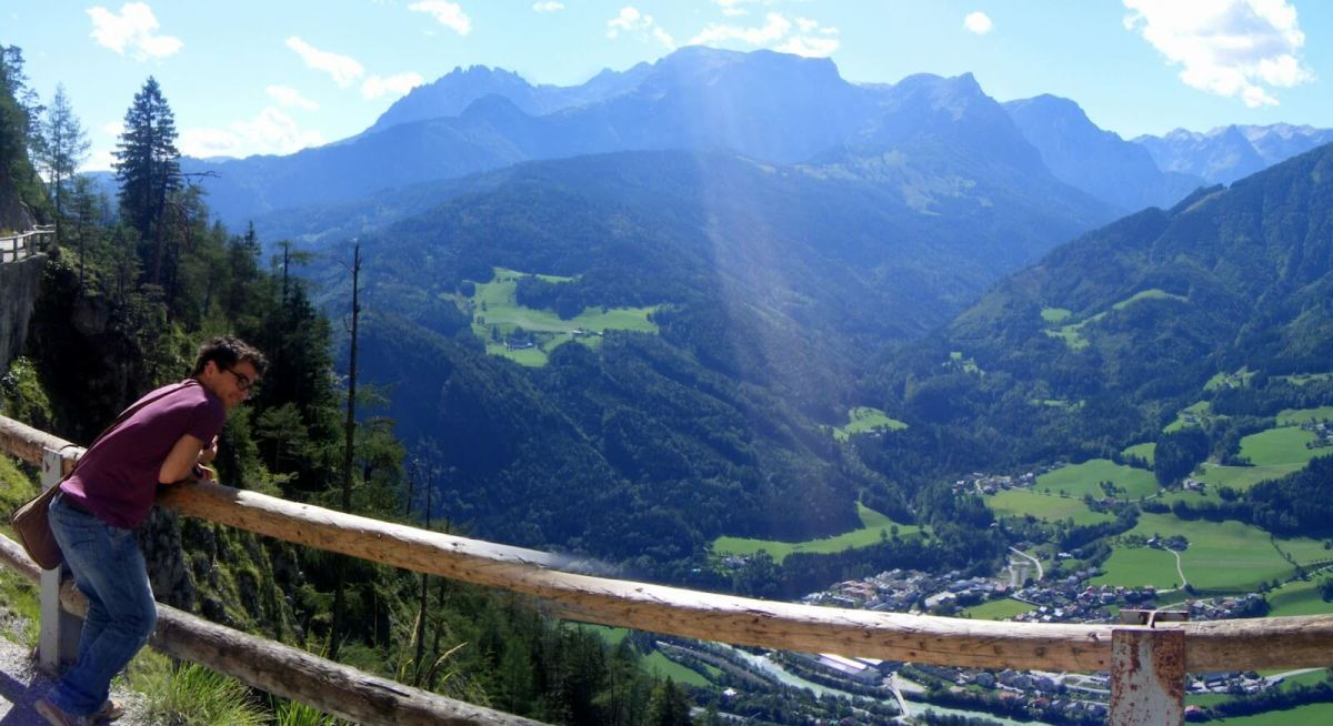 The panoramic views of the Alps on the trek up to Eisriesenwelt, the world's largest ice cave, are equally as stunning
