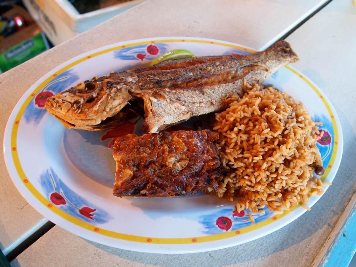 Freeport fish fry in The Bahamas