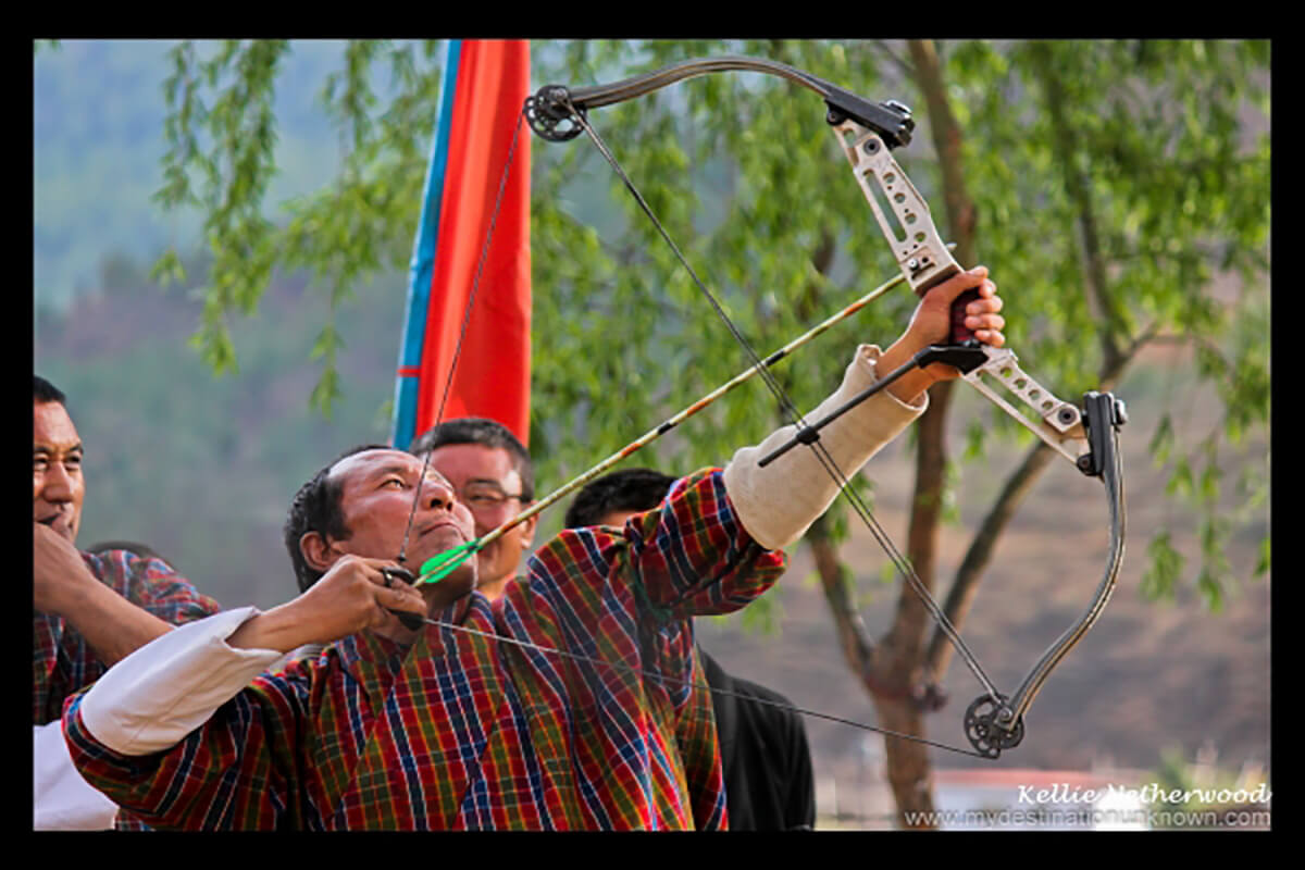 Sunday afternoon regional archery competition, one of the unique and offbeat Bhutan activities
