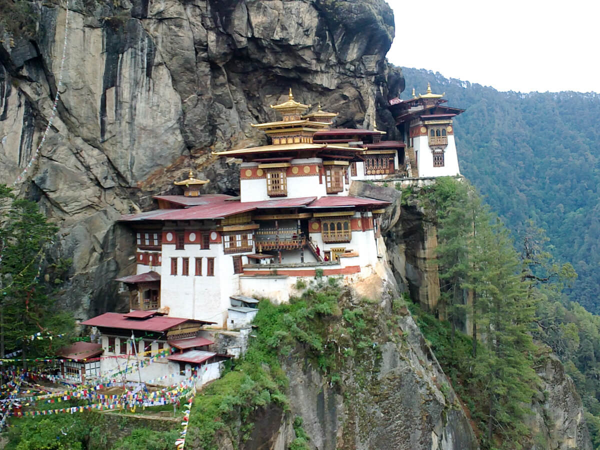 The iconic Tiger's Nest Monastery is one of the unique and offbeat Bhutan destinations and a must-visit