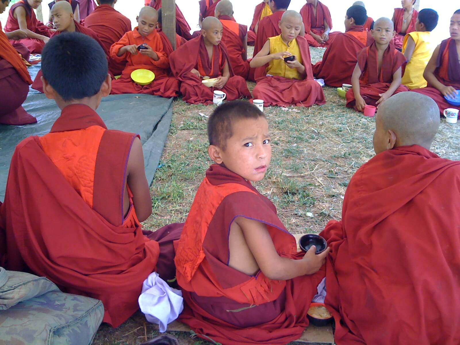 Young Buddhist monks in training in Bhutan