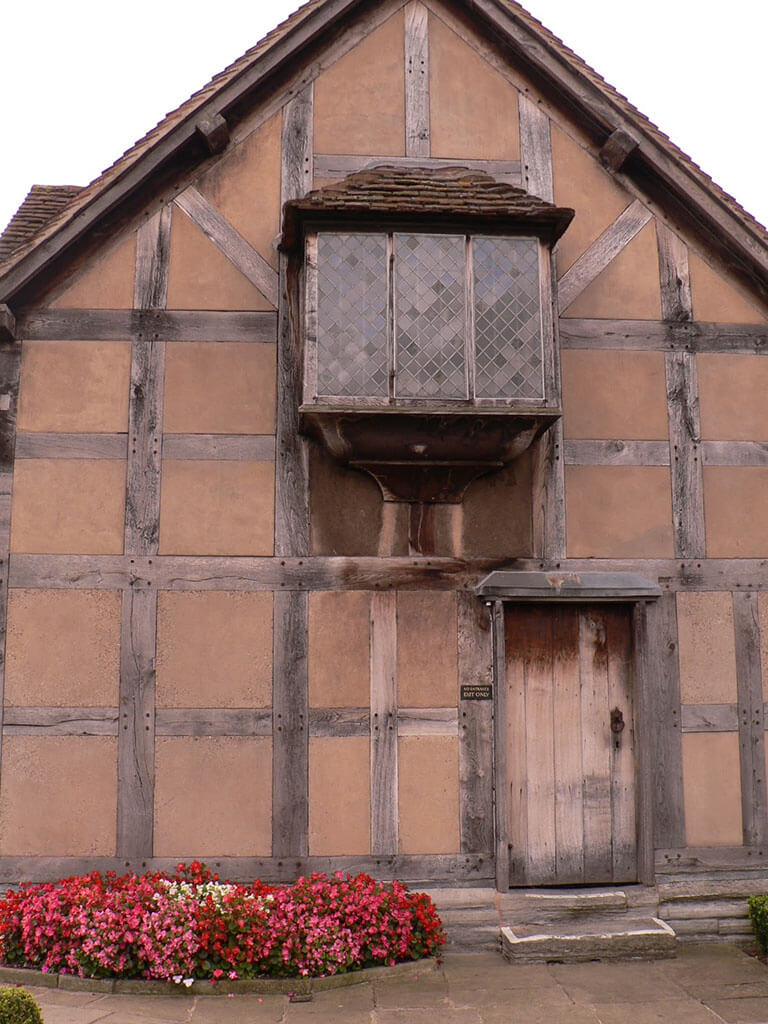The birthplace of William Shakespeare in Stratford-Upon-Avon, England