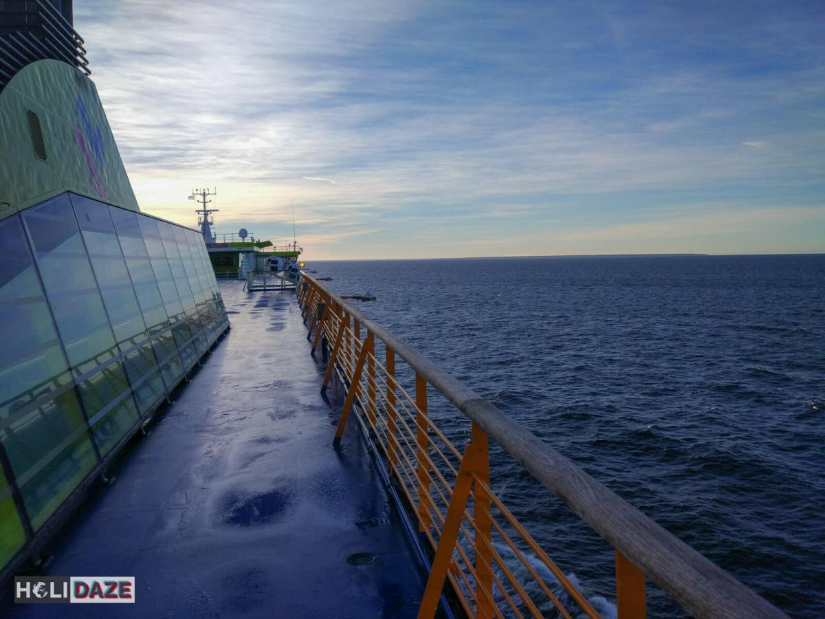 Up top on the deck of the Tallink ferry from Helsinki to Tallinn