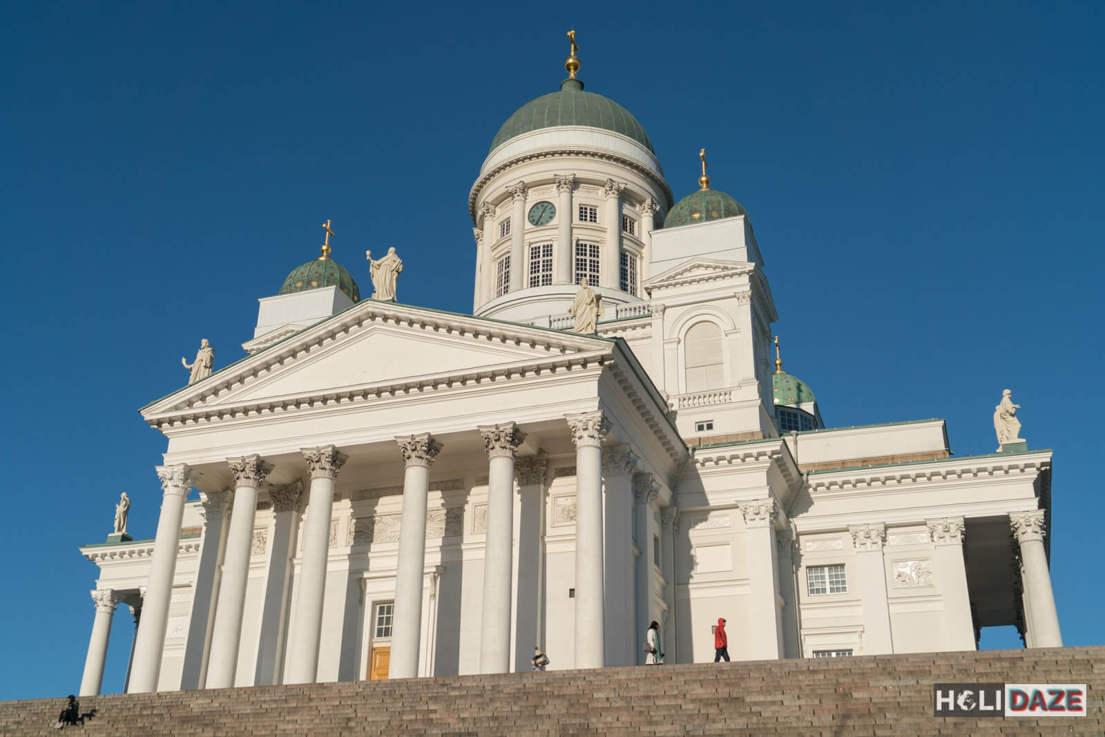 The Helsinki Cathedral on a beautiful blue day without a cloud in sight....great first impression of Finland!