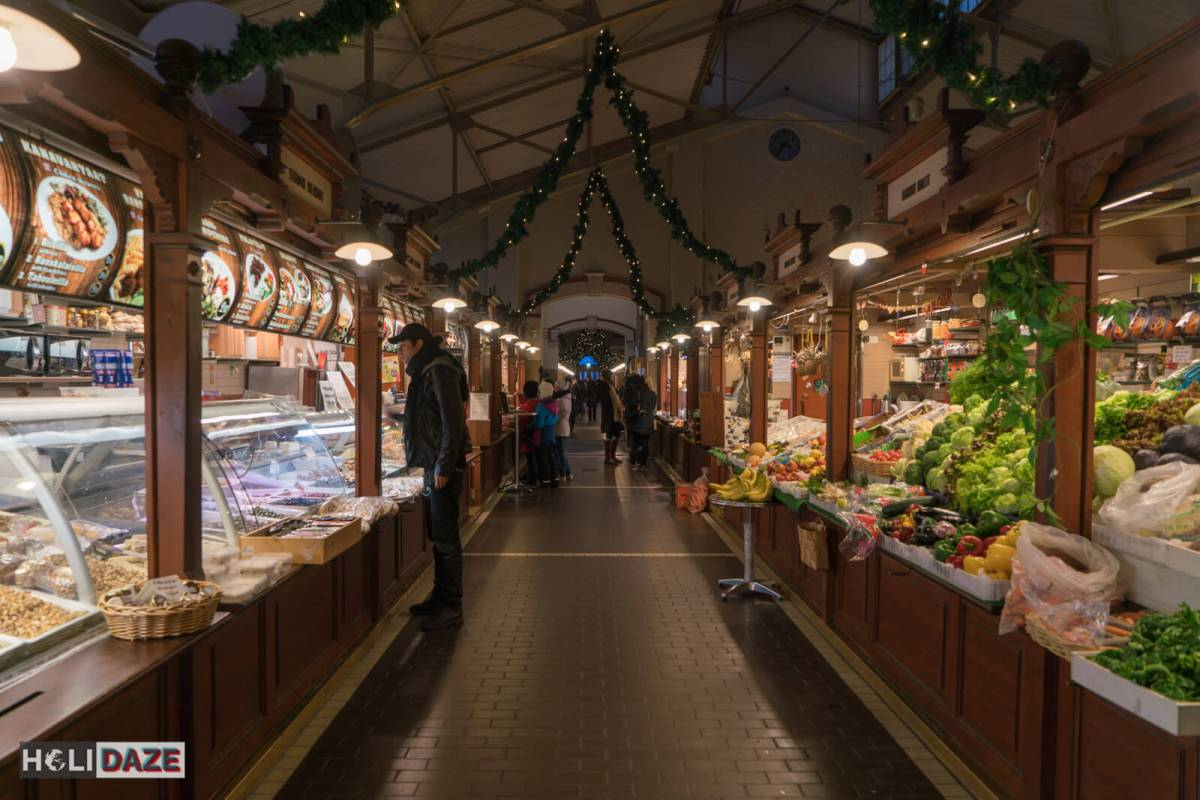 Interior of the Old Market Hall, one of Helsinki's must-visit destinations for shopping and/or eating