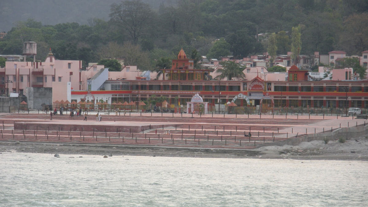 Ashrams and Temples along the Ganges River in India