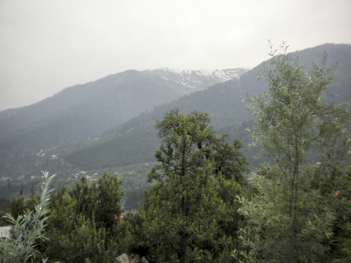 View of Manali in northern India