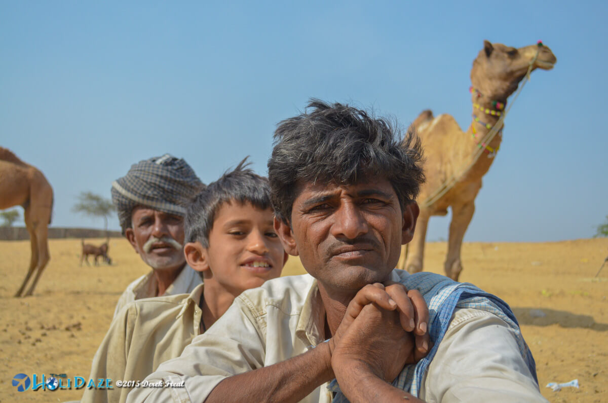 Camel herders at the Pushkar Camel Fair 2015