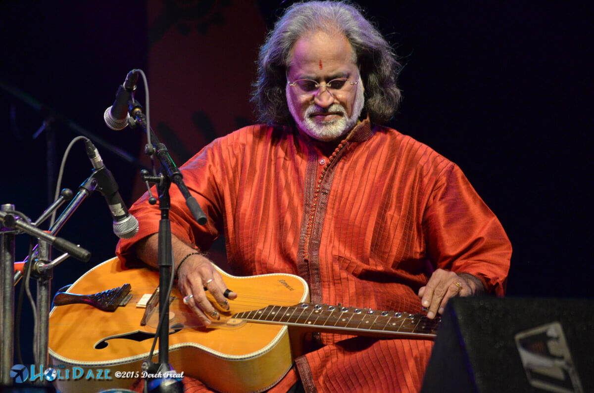 Vishwa Mohan Bhatt performing at the Pushkar Camel Fair 2015, part of The Sacred Pushkar event