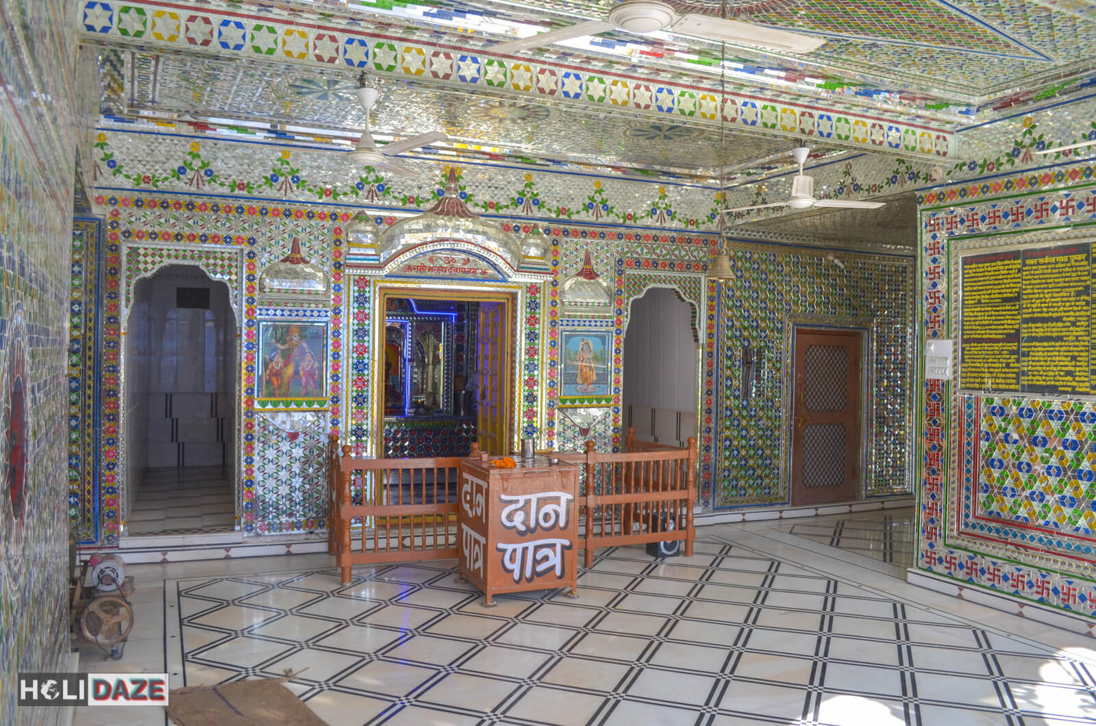 One of a kind mirrored temple in Pushkar, India