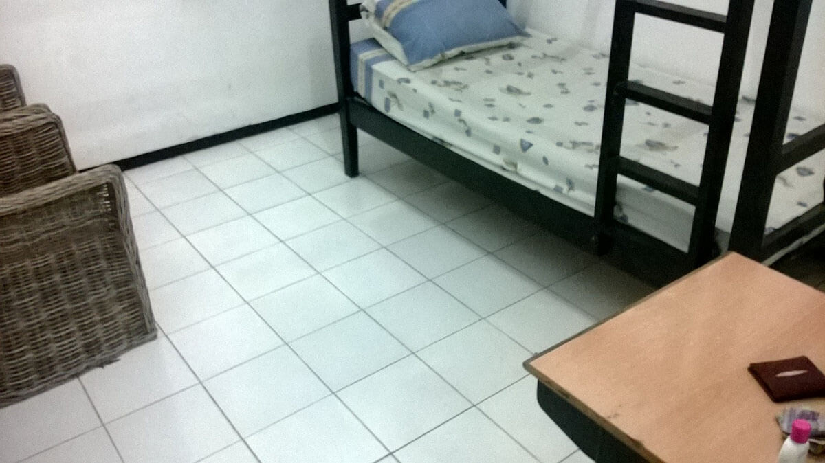 My bedroom at the immigration detention center