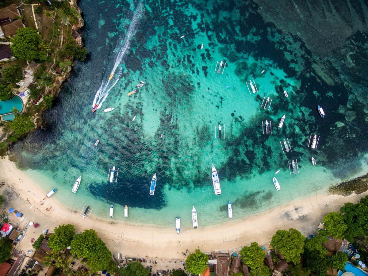 Aerial view of yet another Bali beach