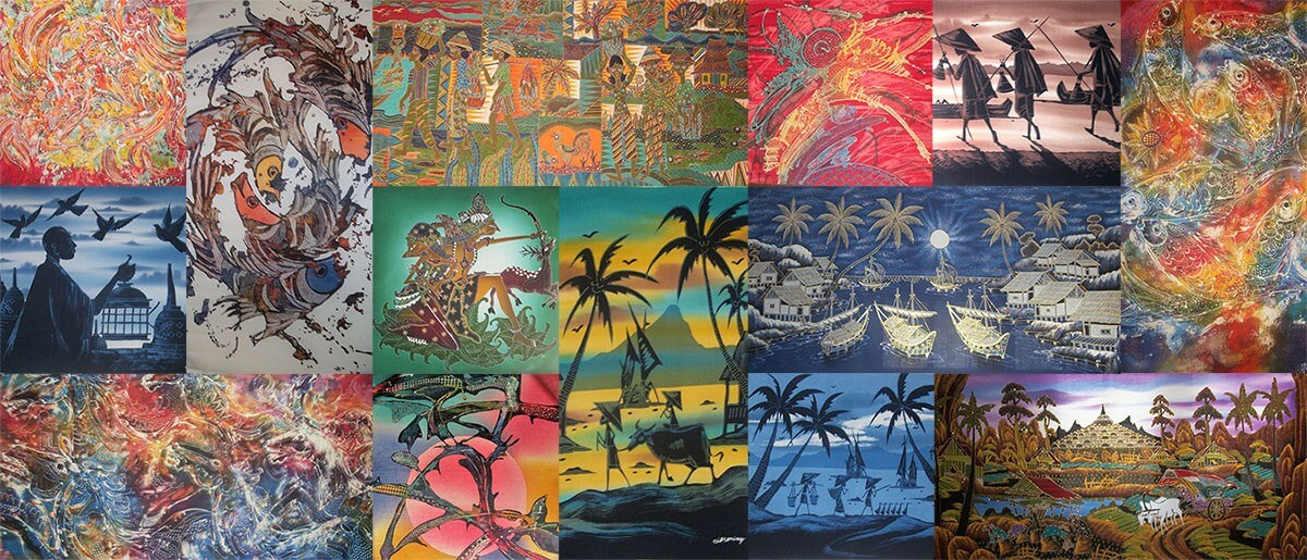 Beautiful batik art of Indonesia
