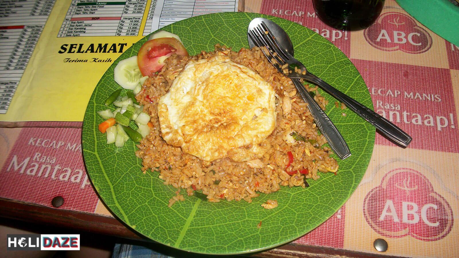 Indonesian Food Cheat Sheet: Nasi Goreng Ayam Spesial in Jakarta