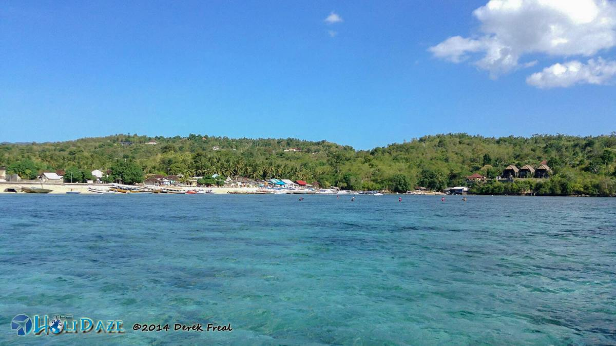The shoreline of Nusa Penida, Bali's hidden paradise