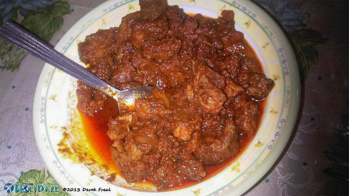 Rendang in Yogyakarta, a must-try food when visiting Indonesia