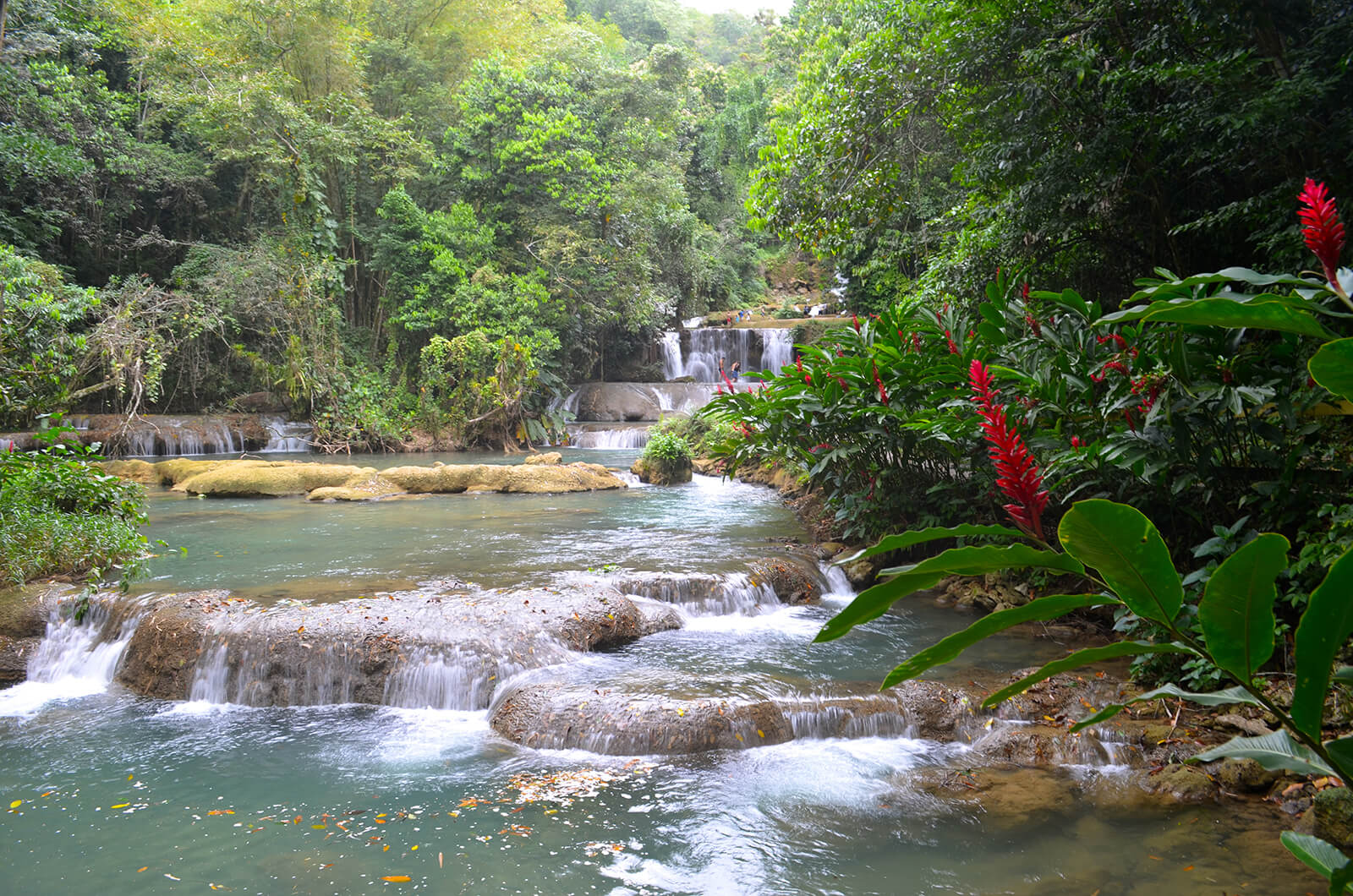 The seven-tiered YS Falls in St Elizabeth are a must-see if you visit Jamaica