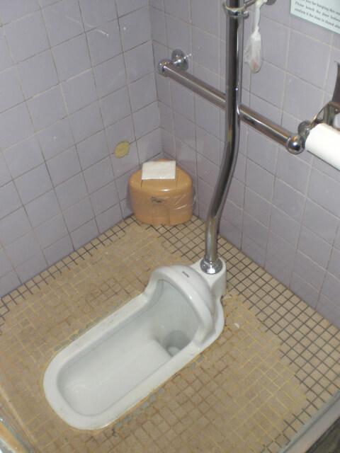 The restrooms at Nonbei Yokocho, Shibuya ward, Tokyo, Japan