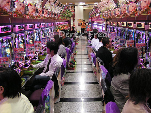 """Pachinko parlors, yet another of those impressive Japanese innovations that will have you asking """"what the hell?"""""""