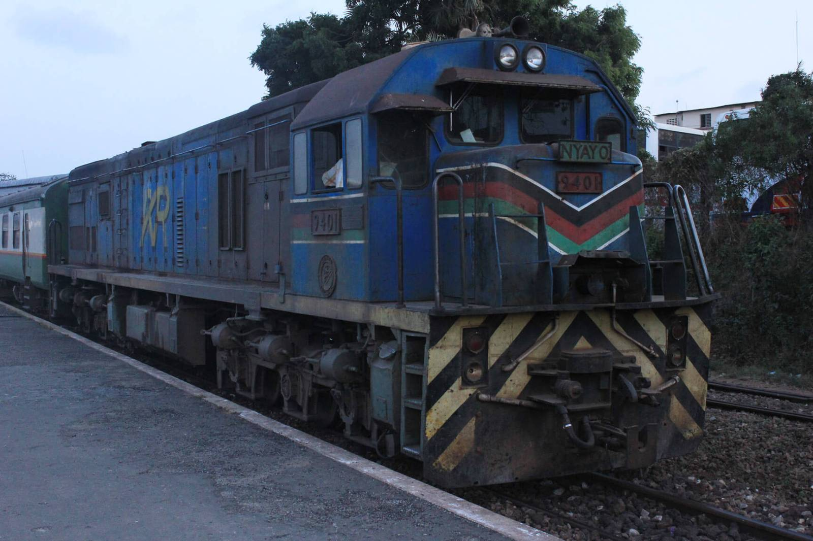 Getting ready to ride The Lunatic Express from Nairobi to Mombasa, Kenya