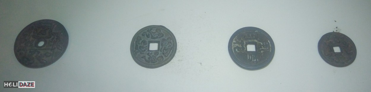 Traditional Korean sex coins at the Love Castle Sex Museum in Gyeongju, South Korea