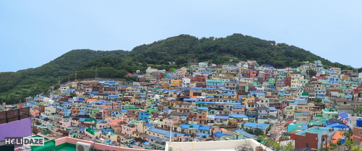 The colorful Gamcheon Culture Village is one of the must visit destinations in Busan