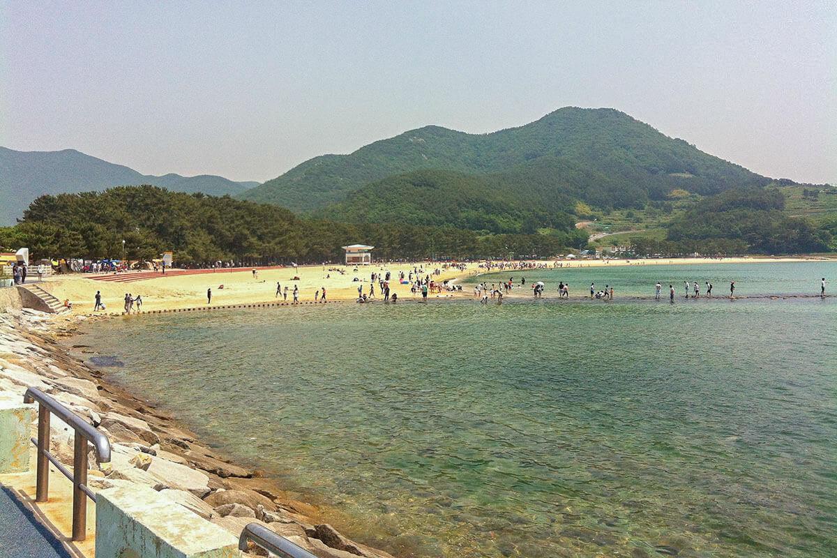 Sangju Beach on Namhae Island, South Korea