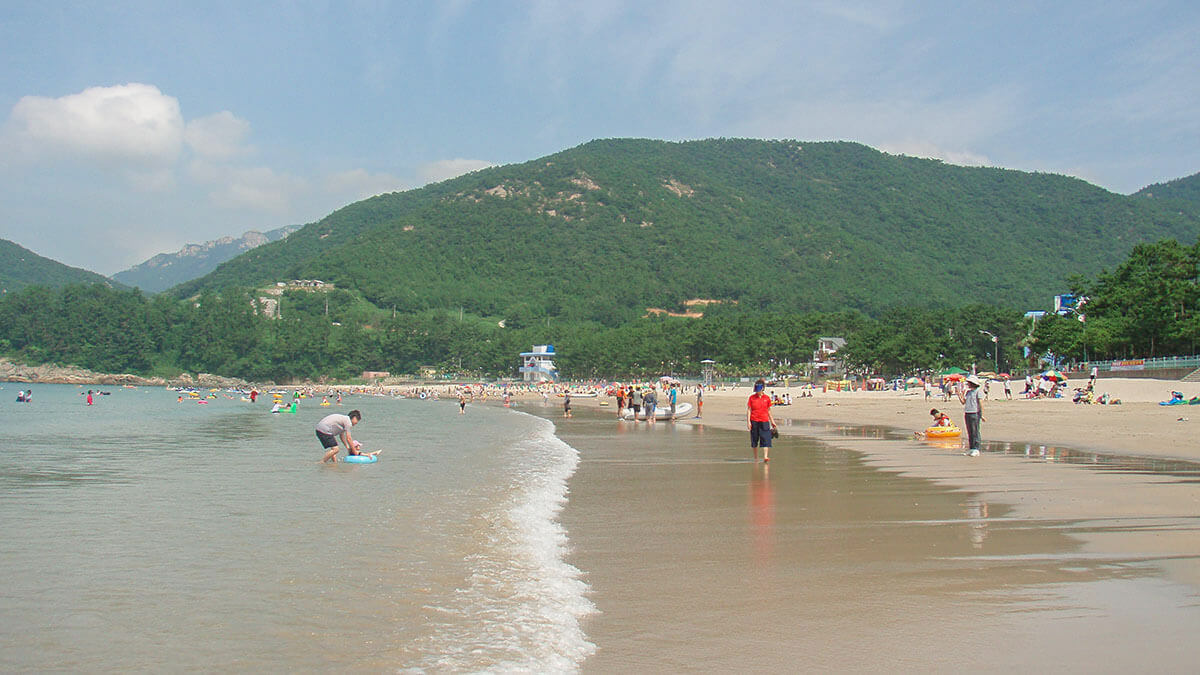 Songjeong Solbaram Beach in Namhae Island, South Korea
