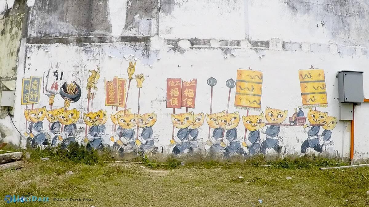 Random Penang street art of Chinese cats