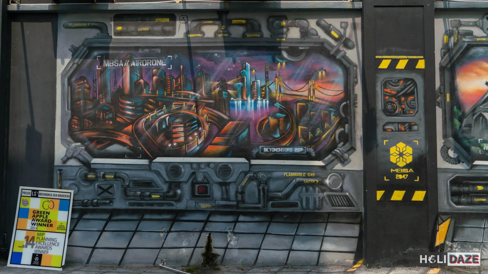Shah Alam street art at Laman Seni 7 near Kuala Lumpur, Malaysia